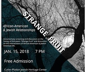 Strange Fruit: African American and Jewish Relationships