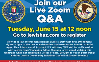 Jewish News/JCRC Webinar with FBI/DOJ to demystify fight against extremism
